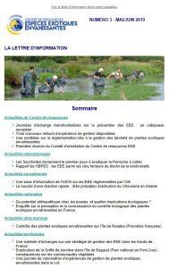 sommaire lettre info 3 - Centre de ressources EEE